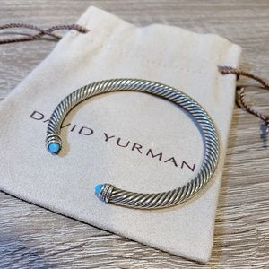 David yurman sterling silver 5 mm cuff bracelet